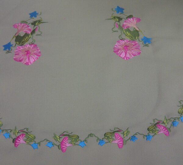 רקמה ממוחשבת פרחים 3