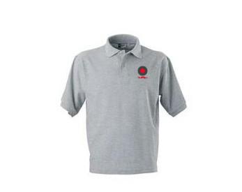 רקמה ממוחשבת חולצת עבודה אפור
